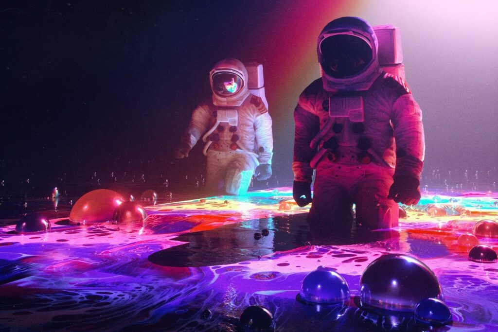 Astronaut Laptop Background