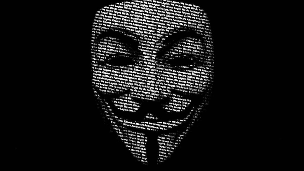 anonymous computer background