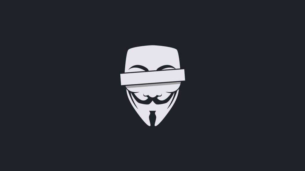 anonymous laptop background
