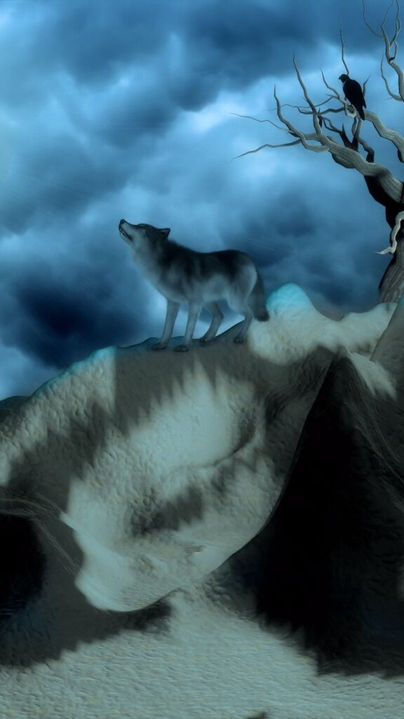 wolf android background
